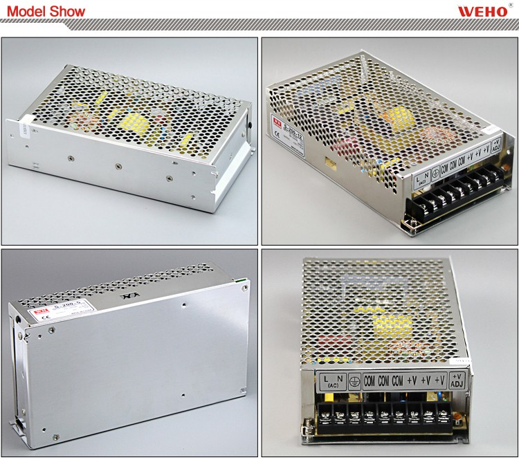 Aluminum 200w single output smps 220v/110v ac 12v dc power supply
