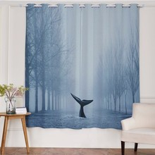 Modern Romantic 3D Designs Polyester Fabric Window Sheer Curtain