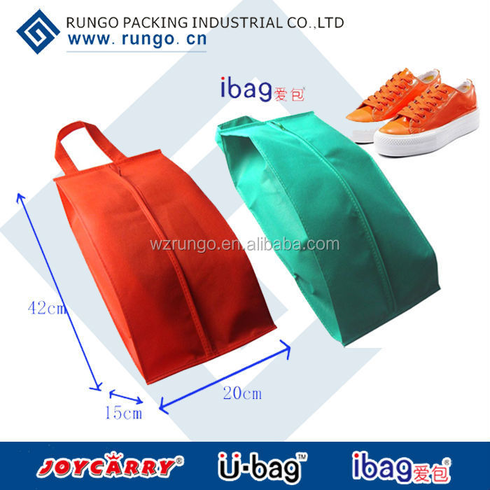 pp non woven Custom shoe bags with zipper