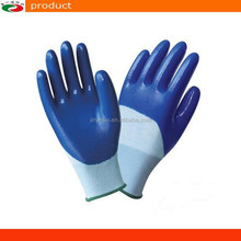 13g Knitted Nylon Liner half dipped Nitrile Gloves Coating Work Gloves 4121 safety Gloves
