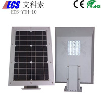 New Product Hot Sale 2015 10W new model design led solar street light prices,all in one solar street light from Ecosol