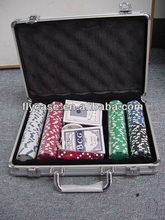 Aluminum100% sale service practical poker chip set with roulette made in China