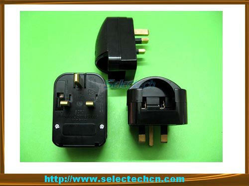 Schuko SCP3 German 2 pin to 3 pin plug adapter 250V 13A electrical plug