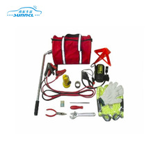 Roadside Assistance Car Accident Emergency Preparedness Kit Flares Glass Breaker