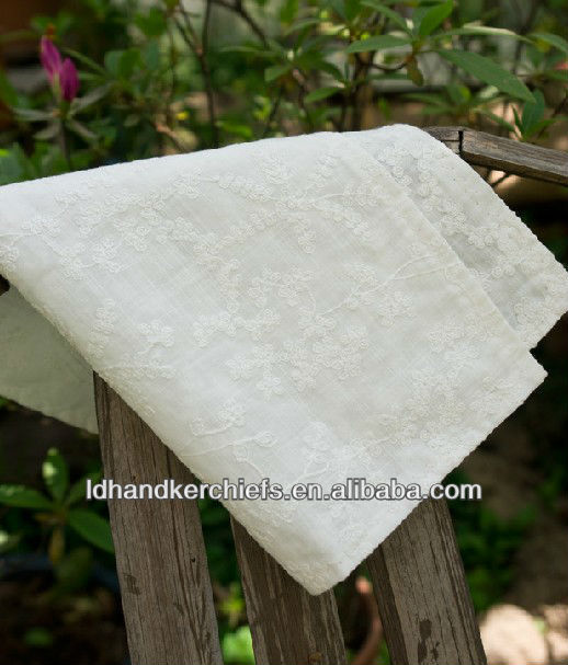 wedding use cotton handkerchief
