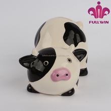 Direct factory OEM cow shaped ceramic bank digital coin counting money jar