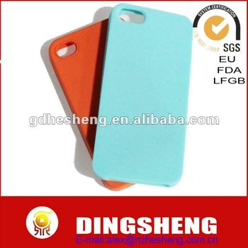 Customized shapes/colors Silicone for iphone5 cases