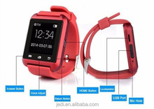 OEM fashion bluetooth smart watch phone with demometer android touch screen micro SIM U8 E0019