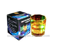 285ml Colorful LED flash cup,flicking whiskey cup,LED Flash Light Lamp Wine Cup