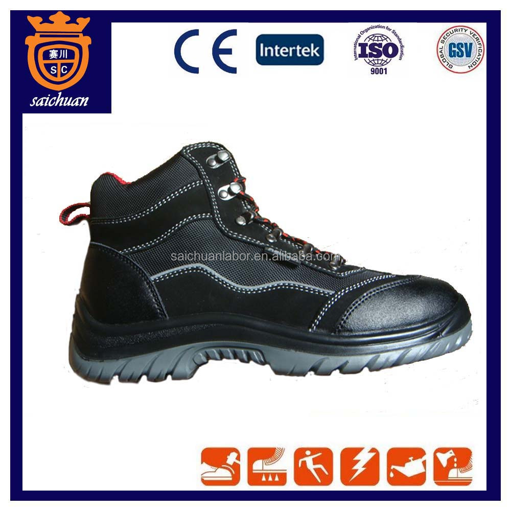 New embossed cow leather safety shoes with steel toe