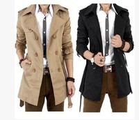 2015 Autumn winter hot dust cloth dust coat men's clothing business cloth coat men long coat