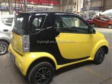 2 seat small cars yongil electric vehicle with solar panels