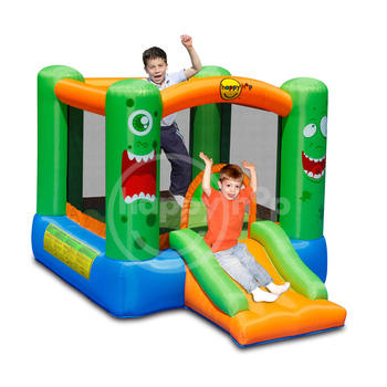 happy hop 2017 New Design 9208-Monster Slide and Hoop Bouncer,cheap inflatable bouncers for sale and kids