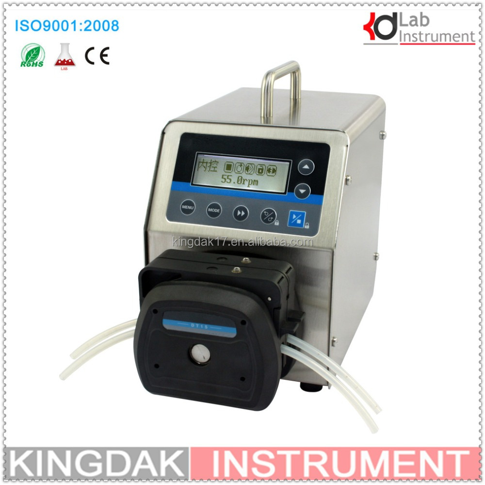 BT300S led digital display Precise variable speed peristaltic pump / dosing pump for water pumps fluid /DT15-24 head