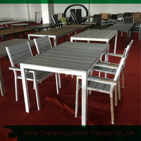 polywood aluminium table set outdoor garden picnic aluminium table and chairs