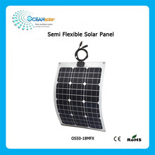 China manufacturer monocrystalline semi flexible solar panel with High Quality