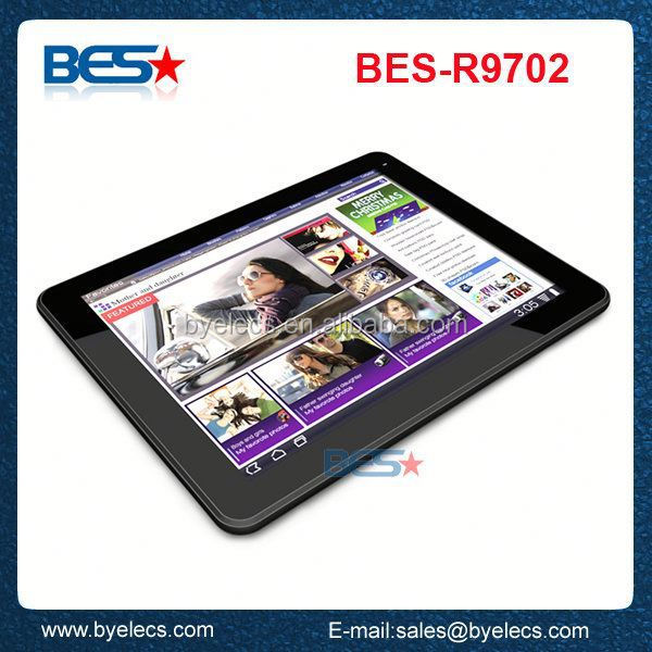 Wholesale 9.7 inch 0.3mp+2mp Rockchip3188 white box quad core retina display tablet