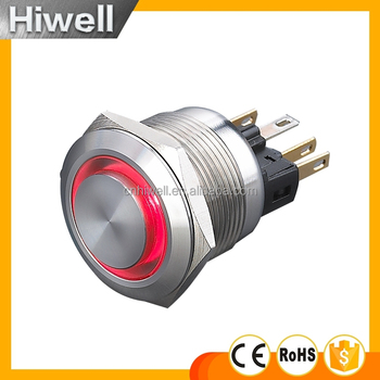 New model 16mm diameter LED metal push button switch depth 21mm