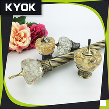 wholesale curtain accessories with customize , hot sale Russian curtain rods , curtain rail slide