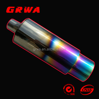 titanium color exhaust muffler