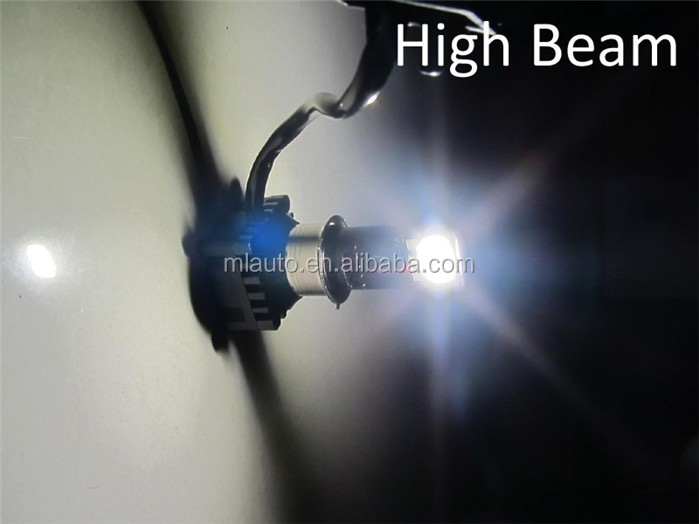 M02C 18W led motorcycle headlight 1800LM hi lo beam fan cool 2pcs led headlamp