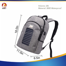 Outdoor Solar Backpack Charger Bag Removable Solar Panel Back Pack for Cell Phones / 5V Devices Power Bank