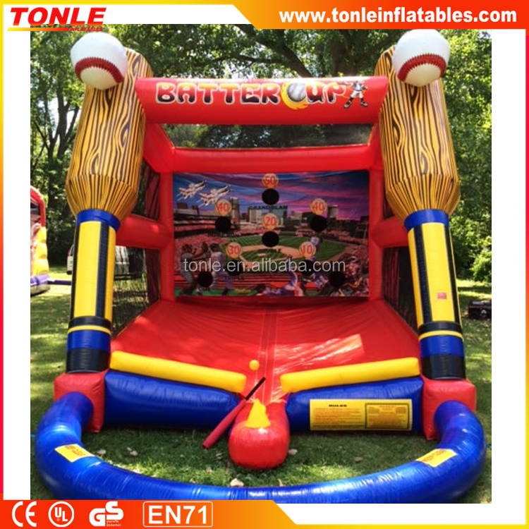 most popular Batter Up inflatable Baseball Game, inflatable interactive game