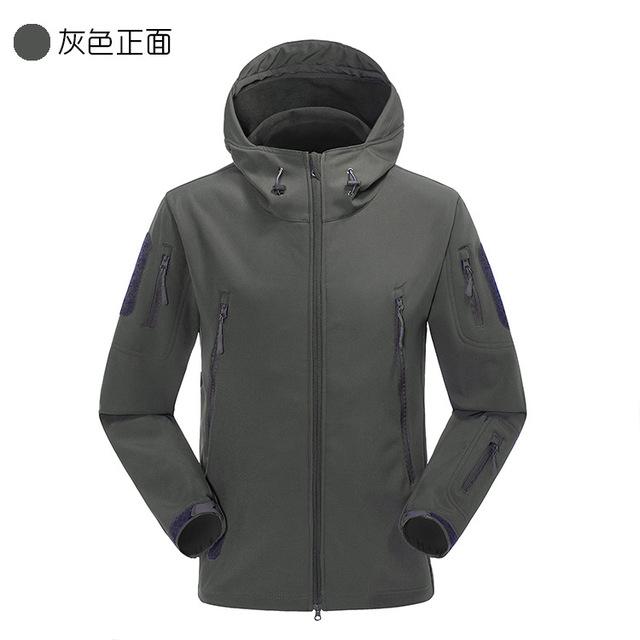 Outdoor camouflage winter wear customized Logo waterproof tactical softshell jacket
