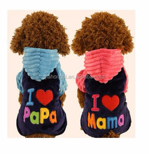 new winter fleece I love mama puppy clothing pet accessories dog clothes
