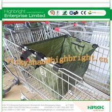 foldable shopping bag/trolley bag with hook attaching on supermarket cart