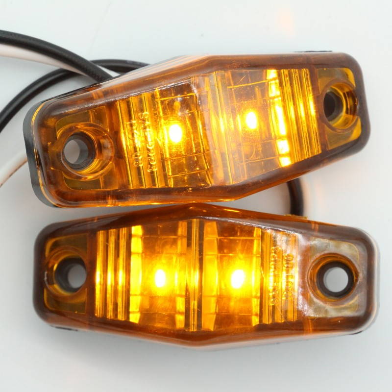 New Products LED Light Red/Amber Surface Mount Clearance Universal Side Marker Trailer