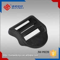 JW-M039 High quality POM palstic mountaineering buckle, black slider ladder lock buckle