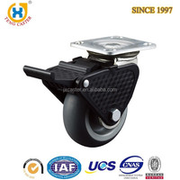 Nice Texture High Quality Plastic 6.0 inch TPR Caster Wheel Wholesale with Total Brake