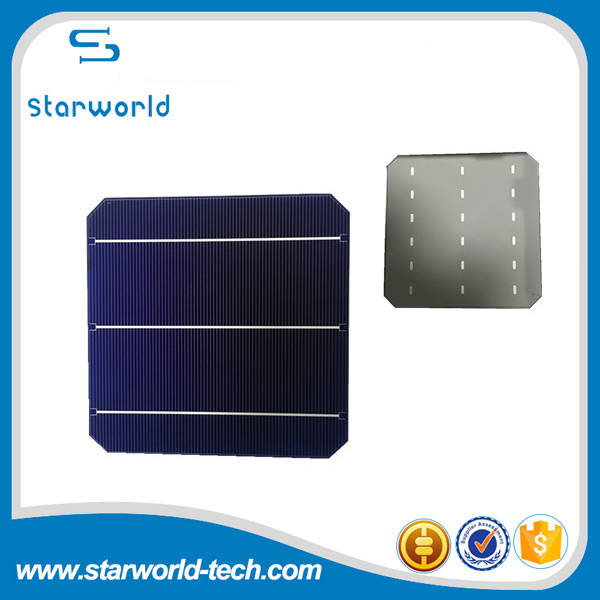 3-busbar A grade renewable solar panel cells 6*6 inch mono-crystalline solar cells for home system