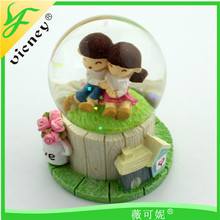 creative wedding gifts resin rotating music ball
