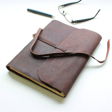 High Quality Soft Leather Travel Journal Notebook Papyrus Paper