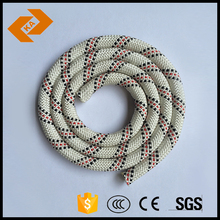 8mm red and white braided nylon rope