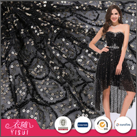 Manufacturer factory price wholesale soft sequin lace fabric india for garments