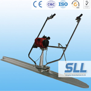 Concrete screed machine vibrating power screed for road construction