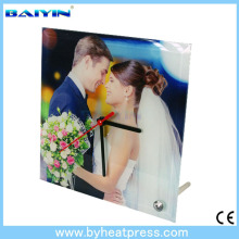 fashion style Square Glass Frame Clock With Stand-26