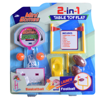 Aage 3+ 2 in 1Table Top Play Mini Games Basketball plastic children toy set