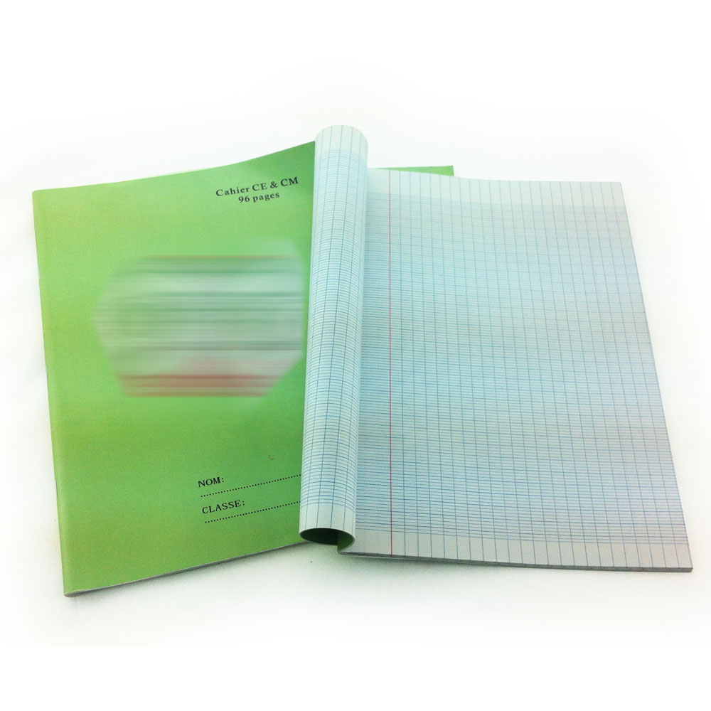 4 french line 96 pages exercise book