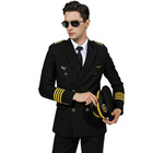 Classical standard airline pilot uniform for men women aviation uniform suit