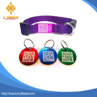 custom colorful printing logo anodize aluminum qr code laser dog tag