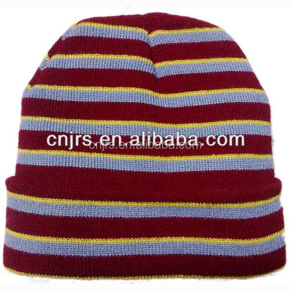 promotional stripes knitted hat