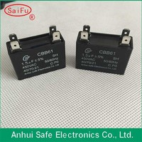 Hot sale resin filled CBB61 Capacitor for spilt air conditioner compressor with able wire type