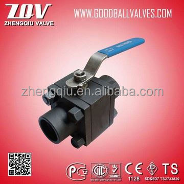 API 6D forged ball valve 2500lb for water