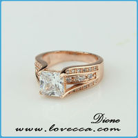 Rose Gold Plated Sterling Silver Micro Pave Round Cubic Zirconia Curved Women's Wedding Stacking Ring