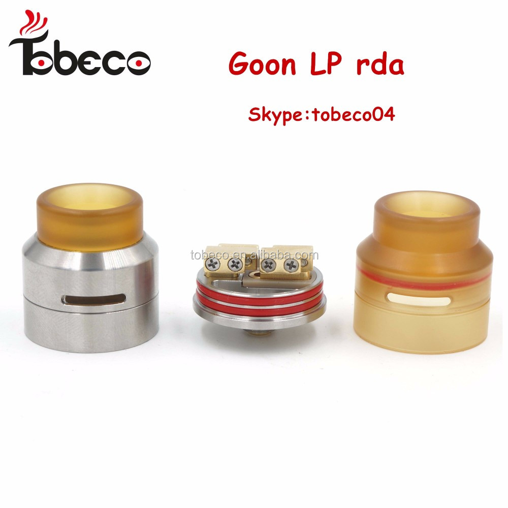 Tobeco wholesale 1:1 clone Goon LP rda atomizer 525 Goon LP 24 mm Goon