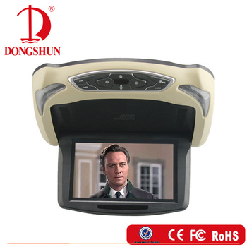 removable housing 9 inch car flip down roof mounted DVD player with HDMI input